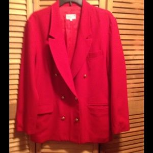 Abercrombie & Fitch Red Double-breasted Blazer